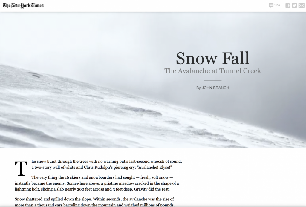 Snow Fall / New York Times